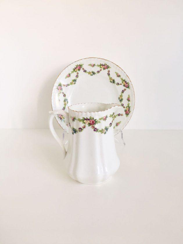 servizio da tè ghirlanda di rose