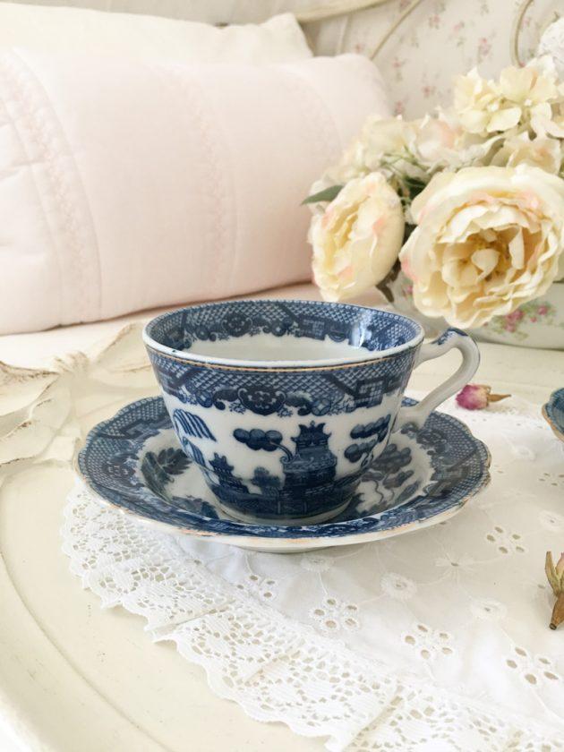 old willow tea jane austen vintage