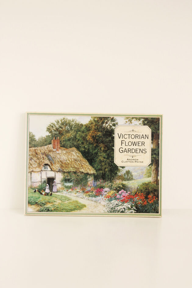 victorian flower gardens vintage book