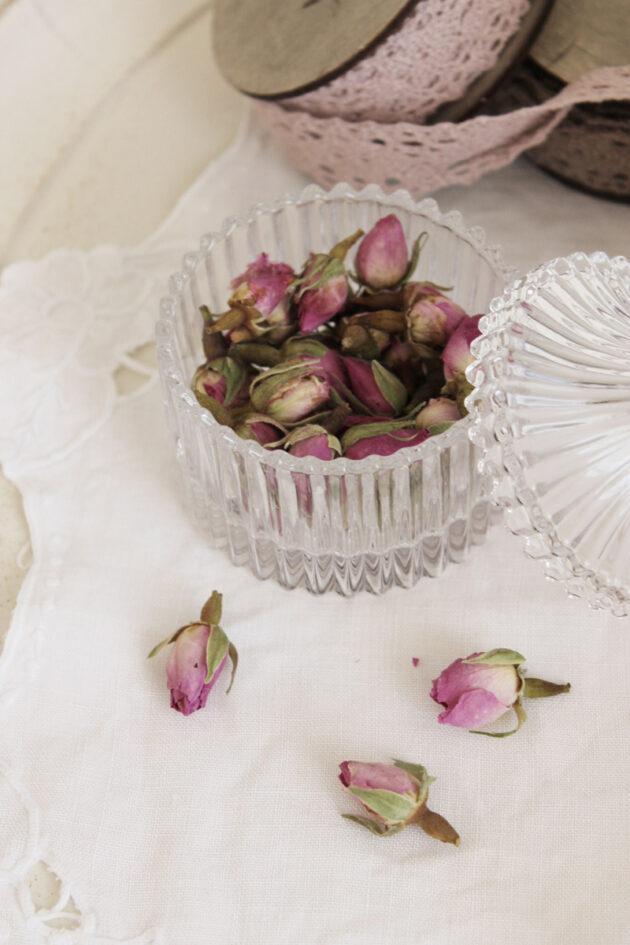 fiori essiccati sacchetti rose