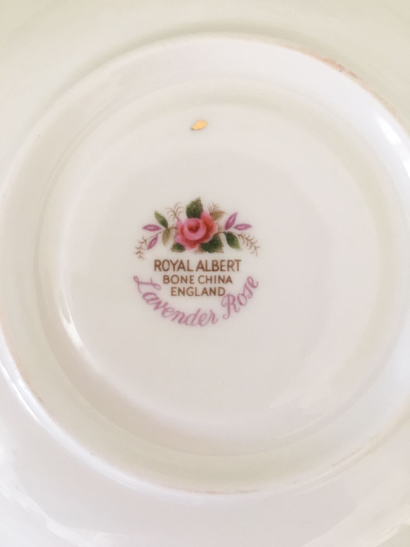 tazzina da caffè lavender rose royal albert