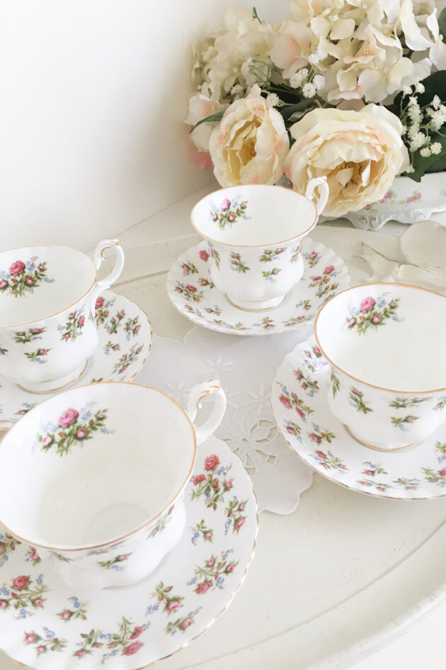 tazze tè royal albert winsome english porcelain teatime