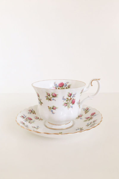 tazze tè royal albert winsome vintage rose teacup