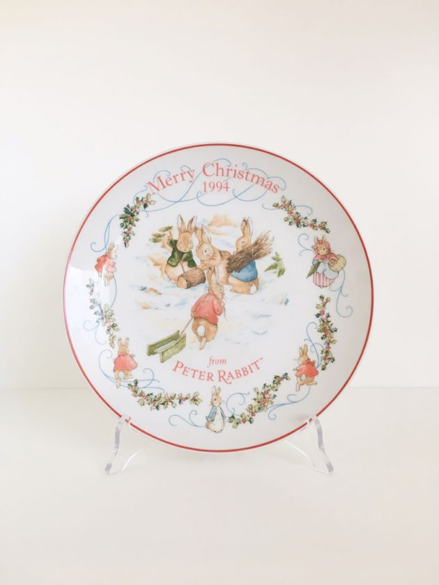 piatto natalizio peter rabbit beatrix potter